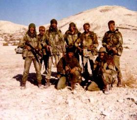 Men of 16 Para Heavy Drop Coy at Goshi Troulli Ranges, near Dehkelia, Cyprus, November 1973