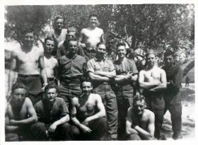 Men of 16 Parachute Field Ambulance pose for an informal group photograph, Tunisia, 1943