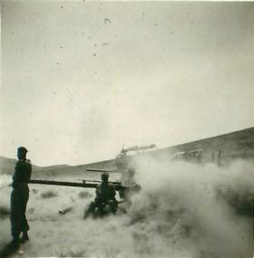 Men of 2 PARA fire 106mm Anti-Tank Gun, Jordan 1958