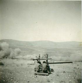 The Anti-Tank Platoon of 2 PARA firing 106mm Anti-Tank Guns, Jordan 1958