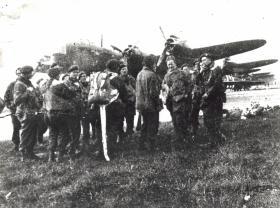 Men of 21st Independent Para Coy wait to emplane for Arnhem, 17 September 1944