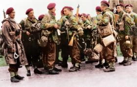 Members of E Sqn No 2 Wing Glider Pilot Regiment return from Normandy, 1944.