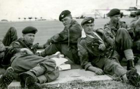 Members of C Coy, 2 PARA, Nairobi Aerodrome, Jordan, 1958.