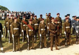Guard of Honour at the Bruneval Commemoration, 19/20 June 1982.
