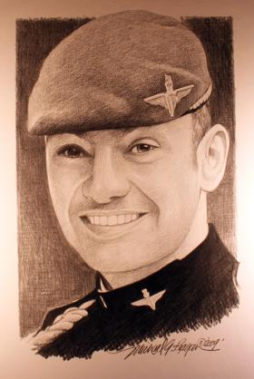 A drawing of WO2 Michael Williams