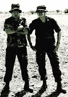 Mick O'Connell and Greg Allen, 1 PARA, Oman, 1982.