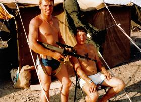 Greg Allen and Mick O'Connell, 1 PARA, Oman, 1982.