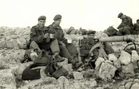 Pte Tarbin with Pte Hemens, Canal Zone, c1954.