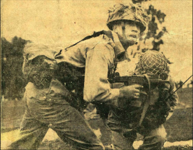 Lt. Mo Oelschig in the field, 1964