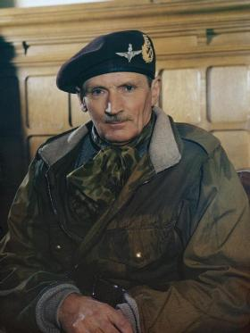 Portrait of Field Marshal Sir Bernard Montgomery, 1944.