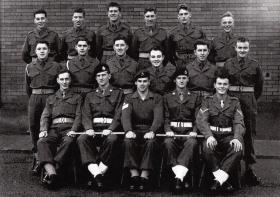 Parachute Training Course 465, Abingdon, 1958.
