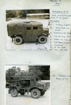 Document showing the modifications required to the Morris C8 to allow loading in a glider, 1944.