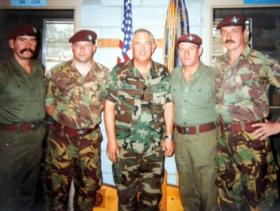 Members of 15 PARA in the United States of America, 1990.