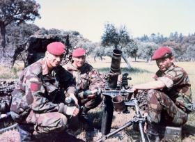 Members of Mortars Platoon, 1 PARA, Portugal 1986.