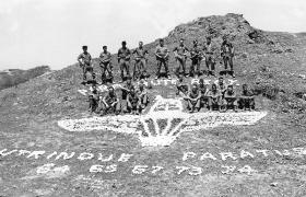 Members of Mortars Platoon, Support Company, 2 PARA, Sharjar, 1974.
