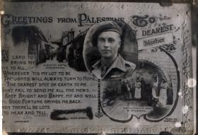 Cpl Brown's Postcard to his mother, Sunday 16 December 1945