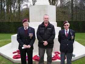 Mr L Rooke, Mr B Hilton & Mr T Huntbach,  Reichswald Forest War Cemetery, 31 Mar 2010.