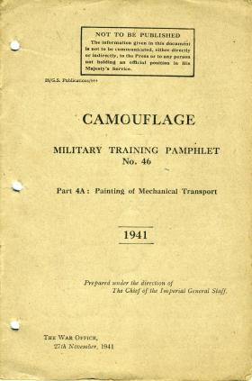Military Training Pamphlet (MTP) No 46, Part 4A: Painting of Mechanical Transport, 1941.