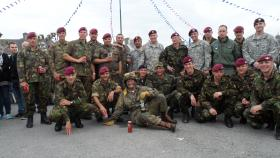 Multinational airborne group, St Mere Eglise, June 2012.