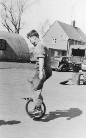 Carrick Watson with Unicycle