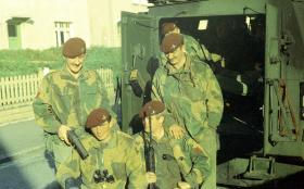 Members of 1 PARA, Northern Ireland, c1970.