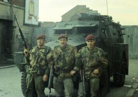 Three members of 1 PARA, Op Banner, c1970.