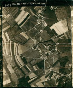 Aerial photo taken over Normandy.