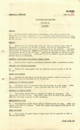 6th Airborne Division admin plan for Operation Overlord, part 2.