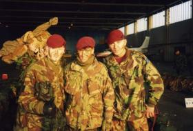 Paratroopers of 4 PARA ready to go on a training exercise