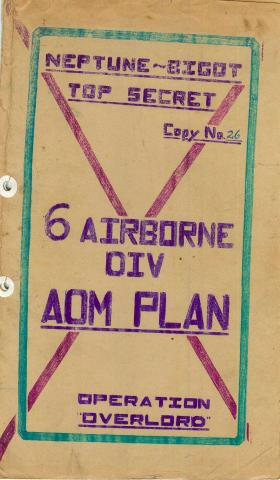 6th Airborne Division admin plan for Operation Overlord, part 1.