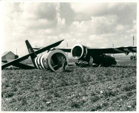 General Gale's Horsa glider in Normandy at landing zone W.