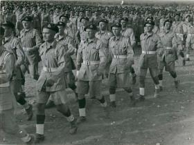 Men of South Staffordshire Regiment on parade.