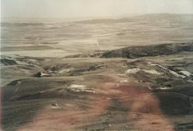 The barren Tamera Valley in 1943.