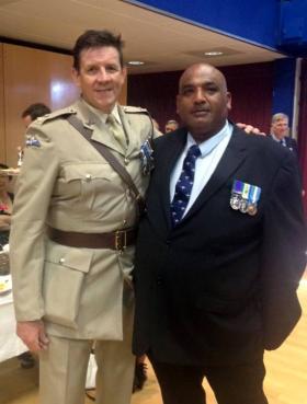Lt Col Guy Wallis and Steve Gibson, Aldershot, June 2012.