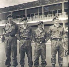 Pte 'Boy' Green, L/Cpl 'Billy' Jack 23 PFA, L/Cpl William Murray and Lt Chris Johnson.