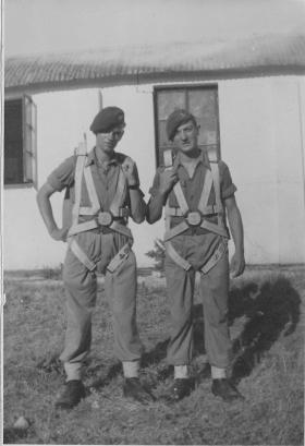 Pte Nash and colleague, Palestine circa 1947