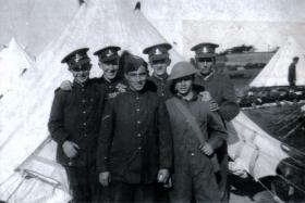 Pte Naysmith & comrades, Isle of Wight, July 1939.