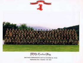 Section Commanders' Battle Course No 91/4, NCOs Tactical Wing School, Brecon 2 September-11 October 1991.