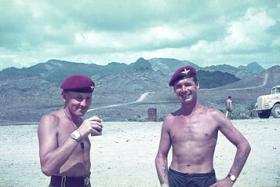 D Coy 1 Para  Sgt Charlie Moon and CSM Midi Campbell  Radfan circa 1965