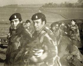 Members of 44 Parachute Ordnance Field Park, Royal Army Ordnance Corps (V), c1975.