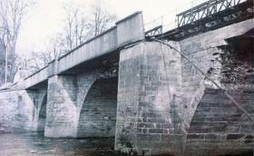 Neustadt bridge following Royal Engineers' repairs, 9 April 1945