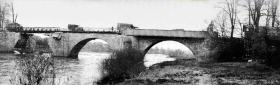 The Neustadt bridge following Royal Engineers' repairs, 9 April 1945