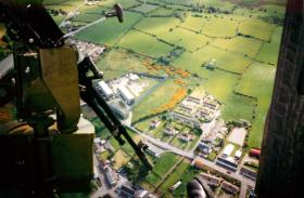 Forkhill Base, photographed from a Lynx on patrol, May 1994.