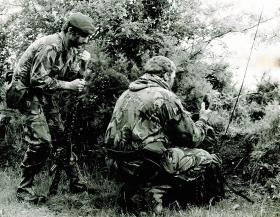 Two members of Close Observation Platoon, 1 PARA, Northern Ireland, 1982.