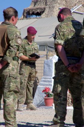 Remembrance Day service in Patrol Base 3 in Nar-E-Saraj South on 11 November 2010.
