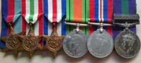 Medal set of Sgt William Nicks