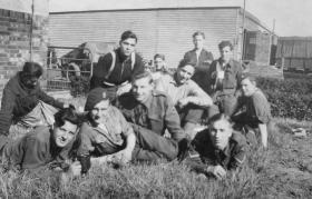 Members of No 1 Parachute Platoon 716 Coy in Wismar, 1945