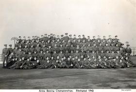 Army Boxing Championship Blackpool 1943