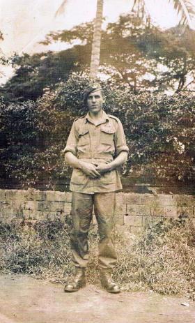 An unidentified soldier of 7th (LI) Para Bn c1946