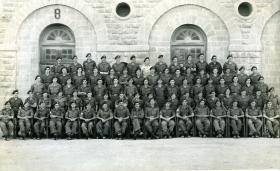 Group photograph of No 1 Assault Company, 15th (Kings) Parachute Battalion, Karachi, India, 1946